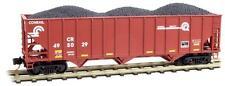 NIB N MTL #10800322 100 Ton 3 Bay Hopper w/Load Conrail #495029