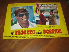 Fotobusta,, IL RAGAZZO CHE SORRIDE AL BANO CARRISI ROCKY ROBERTS 1969 MUSICALE