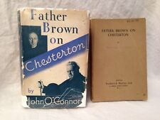 John O'Connor - Father Brown on Chesterton - 1st/1st 1937 with Uncorrected Proof