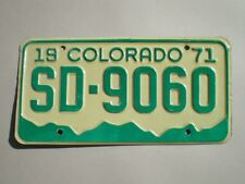 AUTHENTIC 1971 COLORADO LICENSE PLATE