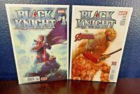 Marvel Comic BLACK KNIGHT #s 1 2 (2015 2nd Series) NM+ Issue Lot Tieri Avengers