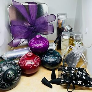 INCENSE starter/sampler kit GIFT - includes resin, cone and stick scents & tools