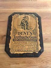 1960s Reproduction Art 1896  Dent's Toothache Gum Ad Plaque Dentist Art Decor Ad