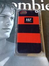 NEW OFFICIAL ABERCROMBIE & FITCH A&F 1892  IPHONE 5/5S CASE COVER RED/BLACK