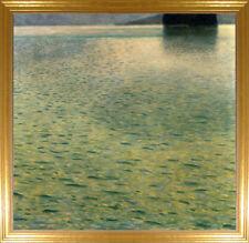 Gustav Klimt Island in the Attersee Fine Art Giclee Canvas Print