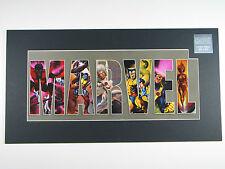 MARVEL COMICS X-MEN LASER CEL POSTER ON MAT LIMITED EDITION