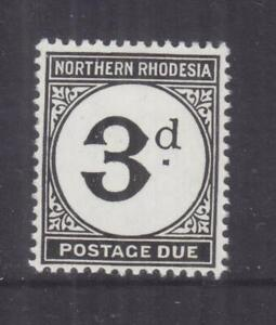 NORTHERN RHODESIA, POSTAGE DUE, 1952 Chalky paper, 3d., mnh.