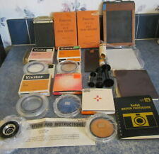 Lot Of 17 Vintage And Antique Assorted Brand Name Camera Accessories