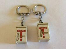 2 porte Clefs TEEPOL-Odoshell-Shelltox-d8 Deter Shell-vintage-keychain-R