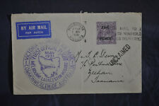 1931 Australia #107 First Flight Melbourne-Launceston-Hoba rt Unclaimed