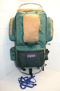Jansport Rainier TALL External Frame Backpack Hiking Mountaineering Green USA