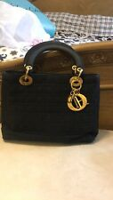 Vintage CHRISTIAN DIOR Black Cannage Lady Dior Bag