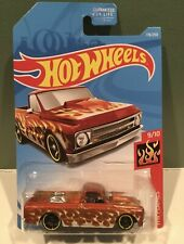 Hot Wheels Hw Flames '67 Chevy C10 Red/Silver Pick Up Truck 176/250