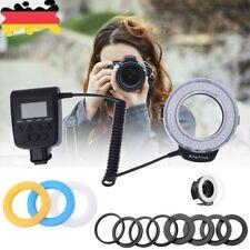 Macro 48pcs LED Ring Flash Light RF550D for SONY Nikon Canon Olympus DSLR Camera