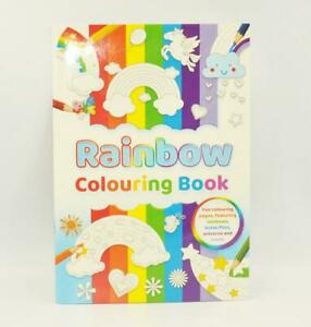 A4 Rainbow Colouring Book Animals Pattern Activity Pad Child Kids Travel Drawing