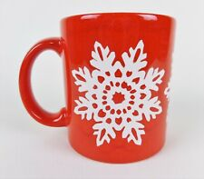 Waechtersbach Christmas Mug Cup Red with White Snowflake Germany Ceramic Vintage
