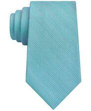 $125 CALVIN KLEIN MENS SOLID BLUE SKINNY NECK TIE CLASSIC SILK NECKTIE 58X3