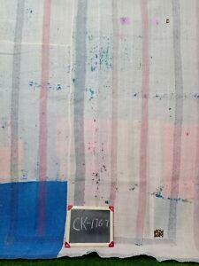 Handmade Vintage Cotton Kantha Quilt Old Reversible Ralli Bedsheet Throw Blanket