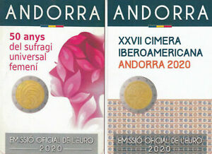 ANDORRA LE DUE COINCARD DEL 2020 EMESSE E GIA' DISPONIBILI - basse tirature