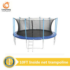 Kids Gift Big Outdoor Round Type Trampoline with Safety Net and Free Ladder