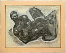 Milton Clark Avery (1885-1965) Signed Charcoal & Pastel Painting Nude Male