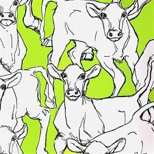 14105 - Marimekko Cows Green & White Galerie Wallpaper