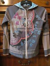 Vanilla Sugar...Soft Knit Hoodie Top...Pouch/Zip Front...Gray/Blue/Pink...XS
