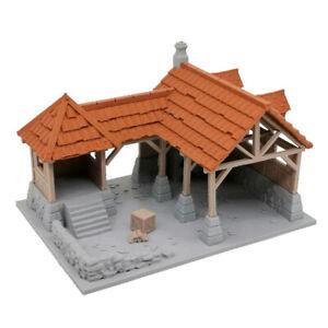 Outland Tactics War Games Miniatures Blacksmith Shop Gold & Grey 28mm Scale