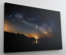 Küste Meer Nacht Sterne Leinwand Bild Wandbild Kunstdruck L1271