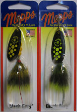 2 - Mepps  Black Fury Spinner - 1/3 oz.- Two Popular Colors With Dressed Tails!