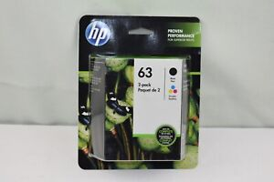 HP 63 Black & Tri-Color Ink Printer Replacement Cartridges HEWDTL0R46AN Exp 5/22