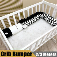2/3m Zebra Shape Infant Baby Crib Bumper Bed Bedding Cot Cushion Pad  UK AU1 L9