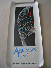 "AMERICAS CUP 1987 POSTER SAIL RACE BOAT PETER COSTELLO 18"" x 39"" APPLE PRINTING"