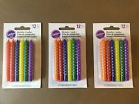 "WOW! 3 Packs Wilton 3"" Rainbow Birthday Pride 36 Candles (3 x12) FAST SHIPPING!"