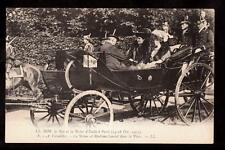 1903 Italy royalty in carriage king & Queen in France postcard