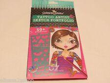 Fashion Angels Tattoo Artist Sketch Portfolio 50+ Stencils design crafts 8640710