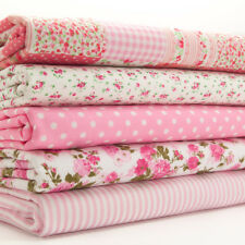 Fat Quarter Fabric Bundle KIDS NURSERY PINK PATCHWORK Polycotton Craft Material