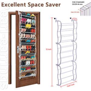 36 Pairs Over the Door Shoe Organizer Rack Hanging Storage Space Saver Hanger CC