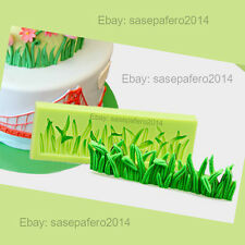 Grass lawn lea silicone mold for fondant, chocolate, marzipan, clays