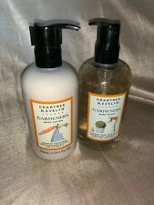 Crabtree & Evelyn London Gardeners Set Body Wash Body Lotion 10.1 Oz Each