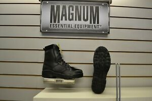 Magnum Protector ST Black Leather Steel Toe Cap Safety Boots UK 3 - 13 Security