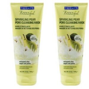 (2 Pack) FREEMAN FACIAL MASK SPARKLING PEAR PORE CLEANSING 5oz