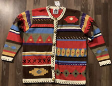 Vintage Storybook Knits Embroidered Cardigan Sweater