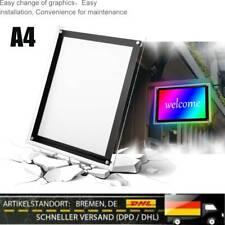 LED Bilderrahmen A4 beleuchtet Fotorahmen Leuchtrahmen Leuchtbild Werbelichtbox