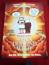 Wenn der Wind weht Kinoplakat Poster A1, Jimmy T. Murakami, David Bowie
