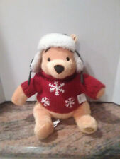 NWT! Winnie the Pooh Plush Toy in Adorable Winter Outfit