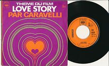 "CARAVELLI 45 TOURS 7"" FRANCE THE FROM LOVE STORY (DE FRANCIS LAI)"
