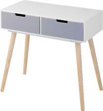 Holz Kommode Retro Design - 2 Schubladen - Beistelltisch Konsolentisch Sideboard