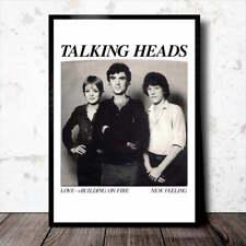 TALKING HEADS A3 Art Print/Poster 1977 PSYCHO KILLER DAVID BYRNE TINA WEYMOUTH