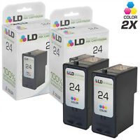 LD Reman Replacements for Lexmark #24 18C1524 2pk X3430 X4530 X4550 Z1410